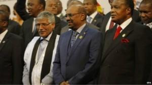 Rais Omar al Bashir na viongozi wengine wa Afrika